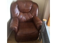 Three piece Italian leather settee very good condition