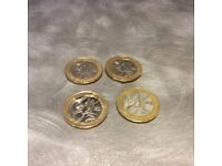 2002 UK Commonwealth Games £2 The Full Collection of Four of the Rarest Coins to find.