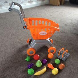 Child's Sainsbury shopping trolley