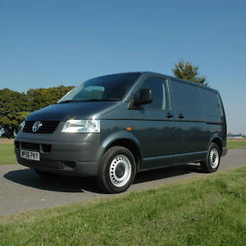 2007 (56) VW Transporter SWB T5 2.5 TDI 140 BHP 6 Speed in Grey. NO VAT.
