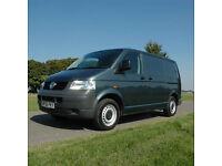 2007 (56) VW Transporter SWB T5 2.5 TDI 140 BHP 6 Speed in Grey. NO VAT.