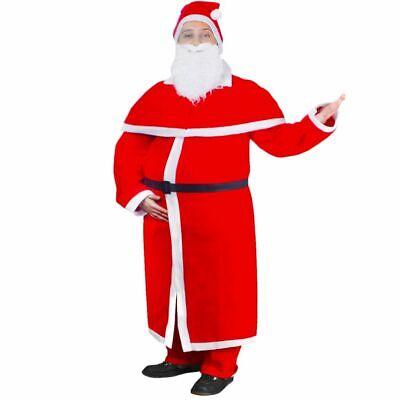 vidaXL Nikolauskostüm Set 5-tlg. Weihnachtsmann Kostüm Mantel - Schwarzer Weihnachtsmann Kostüm