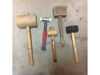 Five mallets for sale