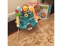 Fisher Price 2 in 1 Sensory Bouncer with box