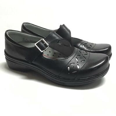 NEW Klogs Madrid Women 7 M Mary Jane Shoes Black Smooth Leather Buckle
