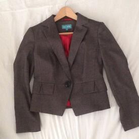 Gorgeous Smart Grey Jacket Size 8 M & S Petite