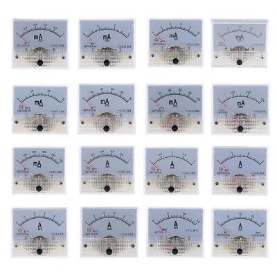 16 Range Dc Analog Amp Meter Ammeter Current Panel Ampere Meter Milliammeter