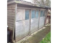 1 x Large Pigeon Loft. 16ft, sliding doors all in good order. Free to a good home
