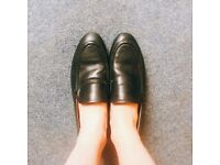 Black Loafers worn only once in great condition