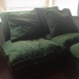 Green Harrods sofa - free - needs to go this weekend!