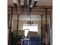 Vintage 6 Arm Ceiling Light