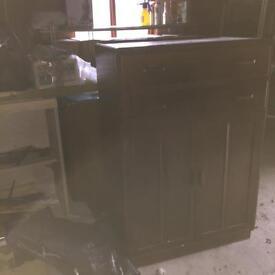 Dark solid wood cupboard