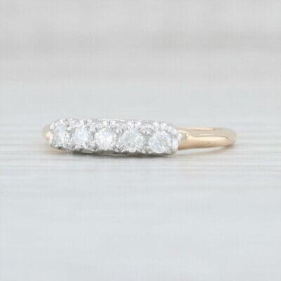 23ctw Diamond Anniversary Ring 14k Yellow & White Gold Size 6.5 5Stone Band