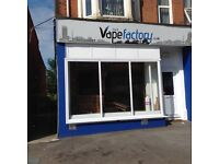Shop for let Shirley Rd, Southampton. Approx 28sqm plus office / kitchen area and toilet at rear.
