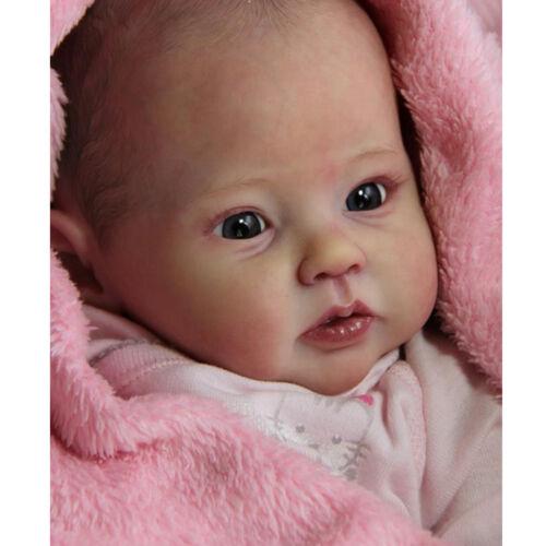 20 Zoll reborn Baby Puppe Lebensecht Handgefertigt Weich Silikon-Vinyl Auge