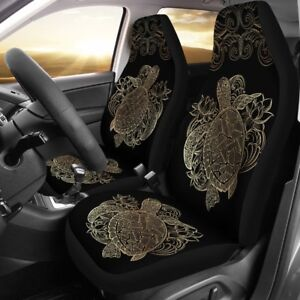 Best Sea Turtle Car Seat Covers - Turtle Lover Gift - Pair Of Turtle Seat Covers