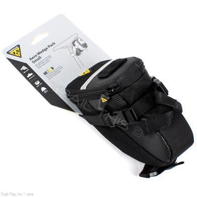 Topeak Aero Wedge Pack Small Bike Packing Traveling Commuter Seat Strap-Mount ()