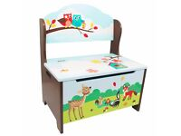 Painted Wooden Themed Toy Boxes and storage benches fast free delivery - Children's Furniture Store.
