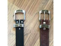 Two Levi belts