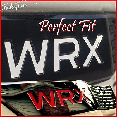WRX Badge Inlays Overlay 2015-2018 Subaru Decal Front Fender Emblem logo  -