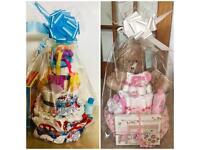 3 tier newborn baby boy / girl nappy cake gift