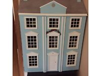 Dolls house with full working lighting+furniture+Other accessories included.