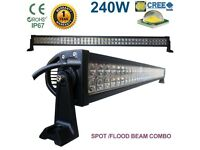 240W CREE LED Light Bar Spot Flood Comb Work Lamp 4x4WD SUV Boat Recovery Pickup Truck Lorry Crane