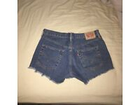 Levi's Women's Blue denim shorts