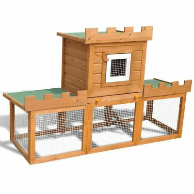 vidaXL Outdoor Large Rabbit Hutch House Pet Cage Single Garden Habitat Carrier, used for sale  Ireland