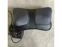 Neck and back massager with heat