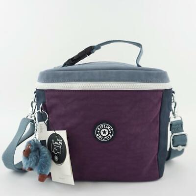 KIPLING GRAHAM Insulated Lunch Bag Crossbody Bag Purple Verbena Colorblock