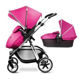 Silver Cross Pioneer 2 in 1 Travel System - Raspberry