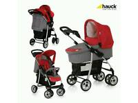 HAUCK SHOPPER TRIO SET TRAVEL SYSTEM SMOKE/TANGO IN EXCELLENT CONDITION !!