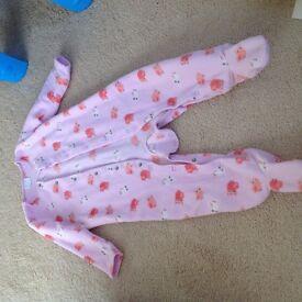 Fleece baby sleep suit