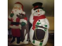 Father Christmas and snowman