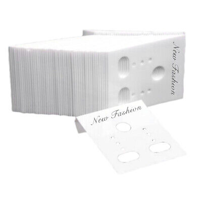 1000x Earring Cards Wholesale Jewelry Packaging Displays - White