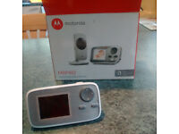 "Baby monitor - Motorola MBP482 as new. 2.4"" diagonal colour screen. Rechargeable parent unit"