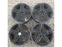 set 17 inch alloy wheels Volkswagen mk4 golf polo beetle bora Audi A3 Seat toledo Mk1 leon rims 100
