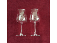 Pair of French Decorative Wine Glasses made by ARC