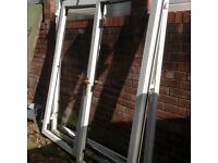 UPVC French doors, double glazed, white
