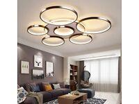 LED Ceiling Light Modern Creativity 7-Ring Living Room Ceiling Lamp