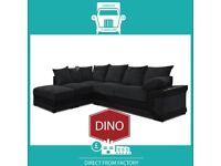😋Super New😸2 Seater £229 3 Str £249 3+2 £399 Corner Sofa £399-Brand Faux PU Leather Jumbo Cord😽