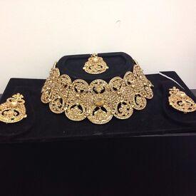New Indian Bollywood Chocker Necklace set