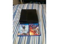 PS4 with Star Wars battlefront & pes2020