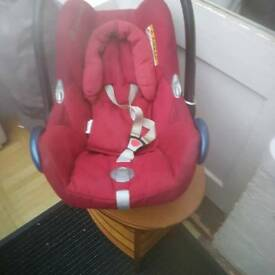 Red car seat