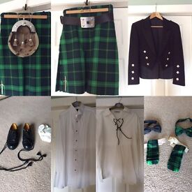 Full kilt outfit, high quality formal and evening dress