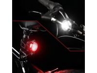 2 x USB Bike Lights - Rechargeable 3-LED Front & Rear Clip Bicycle