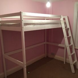 Kids single loft bed with mattress - only 1 year old