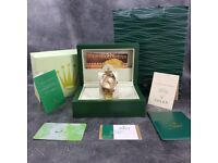 Rossco's Watches. Rolex Day Date. All Gold Oyster Edition. New and Boxed with Paperwork