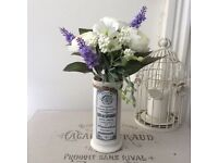 Shabby Chic French Vase ~ Eau De Lavande ~ Lavender / Flowers ~ Unique Gift